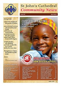Image - front cover of April 2018 Cathedral Community News